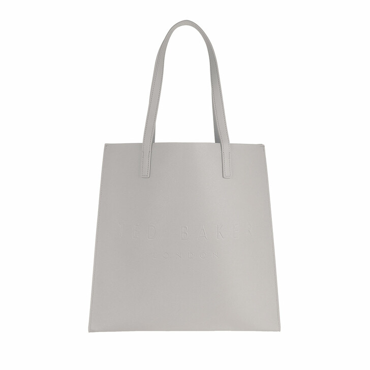 bags, Ted Baker, Soocon Crosshatch Large Icon Bag Light Grey