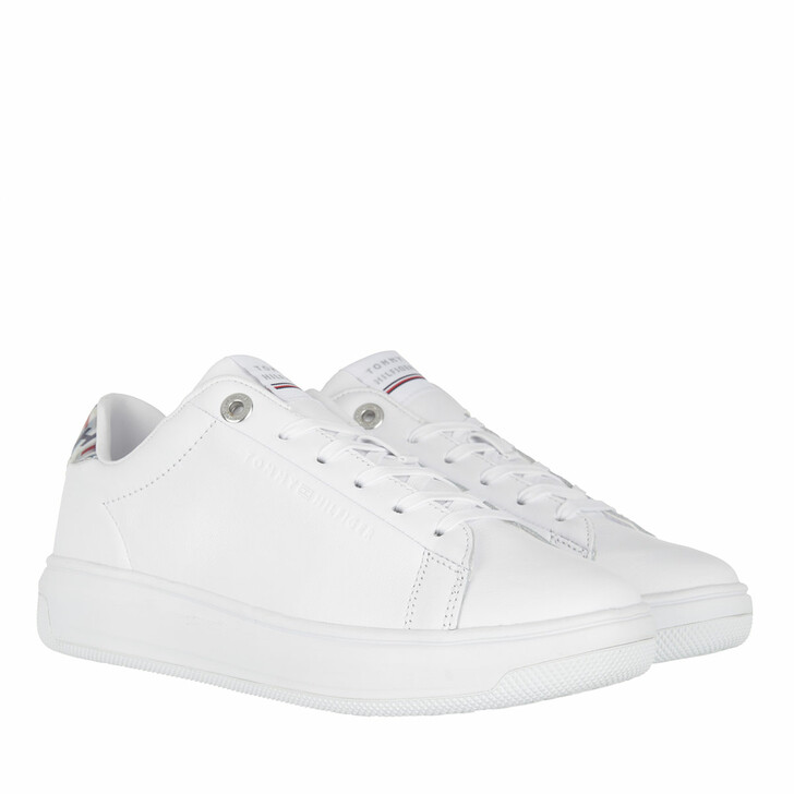 Schuh, Tommy Hilfiger, Monogram Cupsole Sneakers Leather White