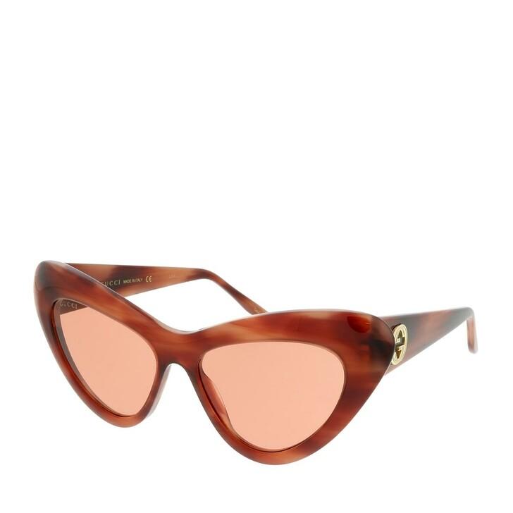 Sonnenbrille, Gucci, GG0895S-004 54 Sunglass WOMAN ACETATE HAVANA