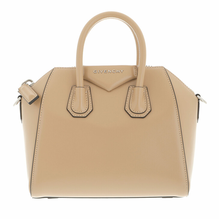 bags, Givenchy, Mini Antigona Bag Leather Beige
