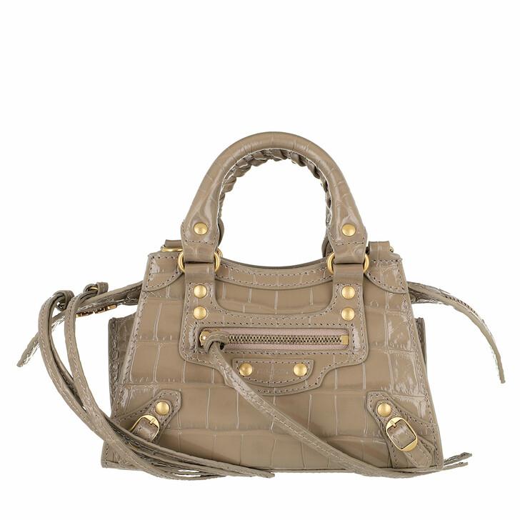 Handtasche, Balenciaga, Neo Classic City Nano Bag Embossed Croc Mink
