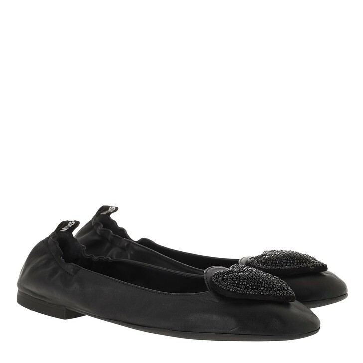 Schuh, Love Moschino, Scarpad Ballerina05 Nappa  Nero