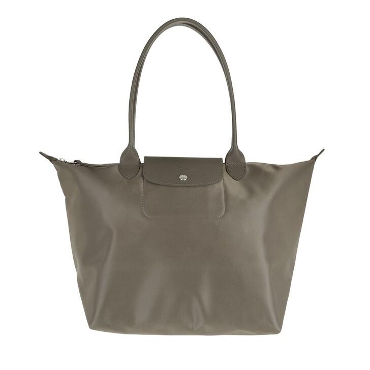 bags, Longchamp, Le Pliage Néo Shoulder Bag Taupe