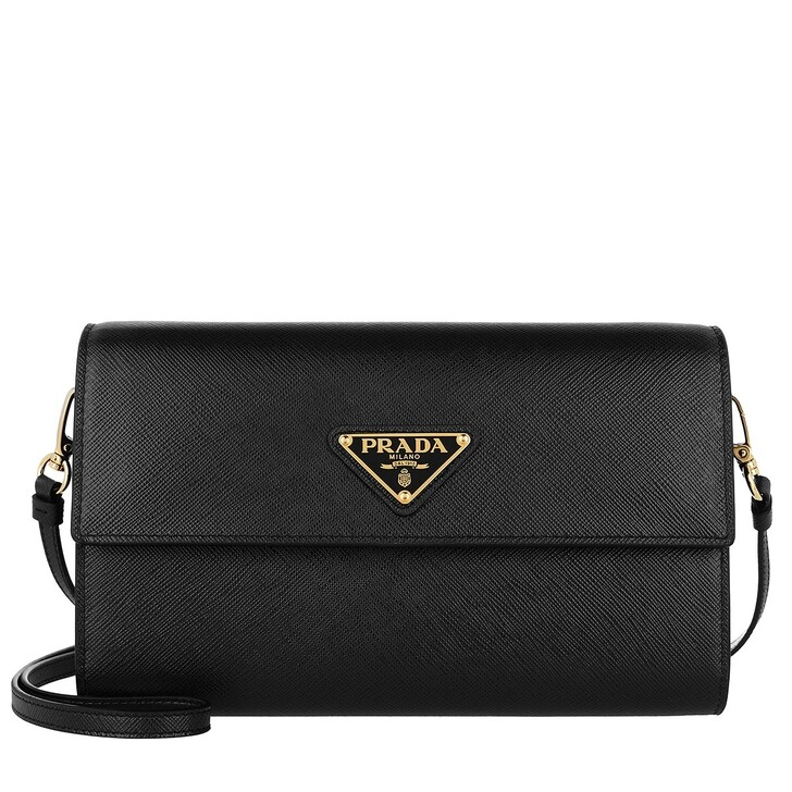Geldbörse, Prada, Strap Wallet Leather Black