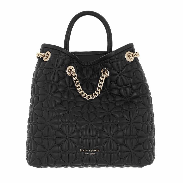 bags, Kate Spade New York, Bloom Quilted Medium Backpack   Black