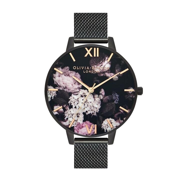 Uhr, Olivia Burton, Women Quartz Watch Signature Florals Black