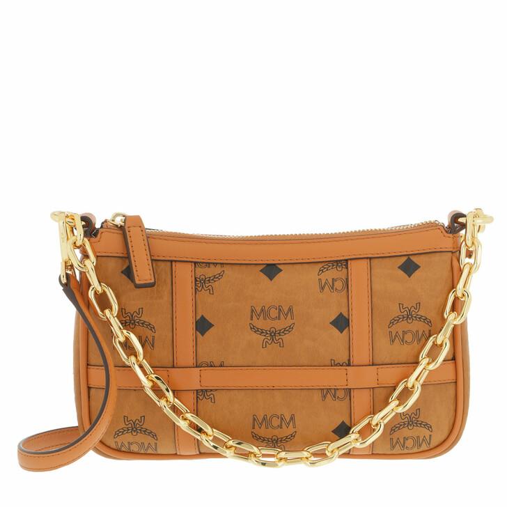 bags, MCM, Delmy Visetos Shoulder Mini  Cognac