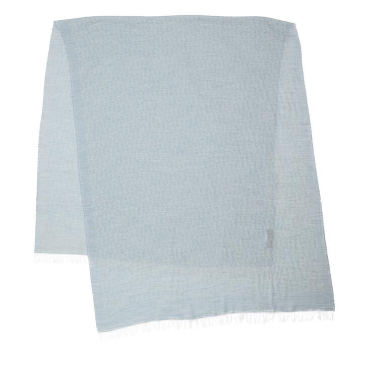 Schal, AIGNER, Logo Scarf Casual Dawn Blue