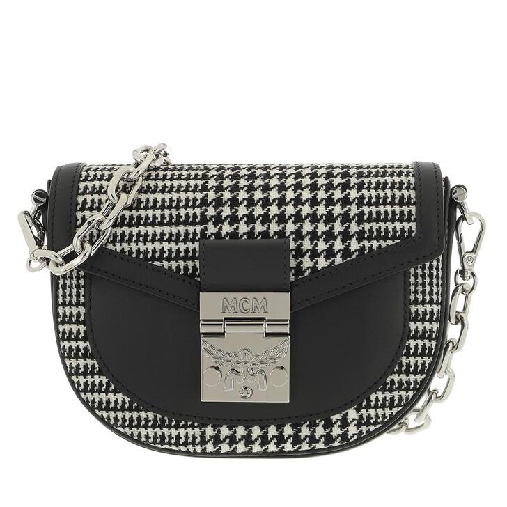 bags, MCM, Patricia Leather Mix Belt Bag Mini Black