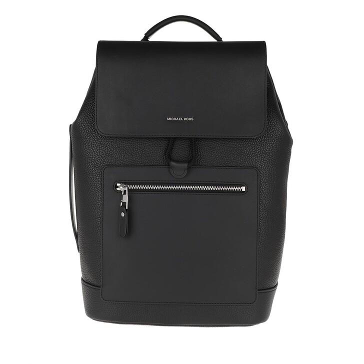 Reisetasche, MICHAEL Michael Kors, Flap Backpack Black