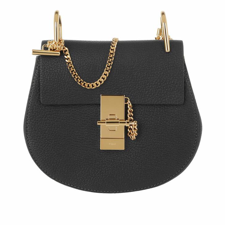 Handtasche, Chloé, Drew Porte Epaule Mini Black