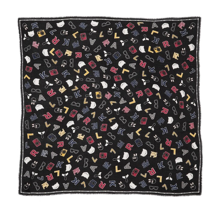 Schal, Karl Lagerfeld, All Over Pins Scarf Multi