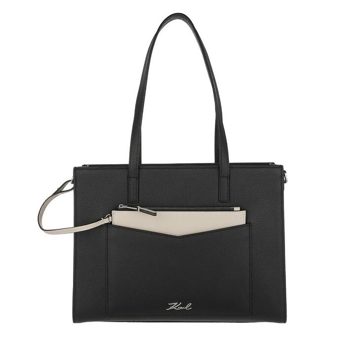 bags, Karl Lagerfeld, Pocket Tote Black