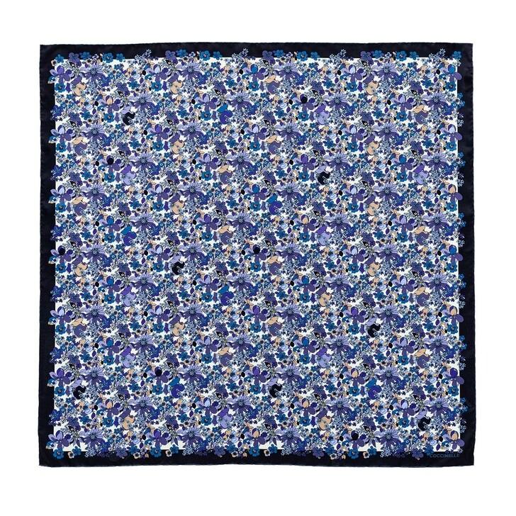 Schal, Coccinelle, Flower Field Foulard Scarve Multicolour Pacific Blue