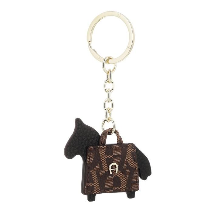 keyrings, AIGNER, Fashion Keychain Horse Black