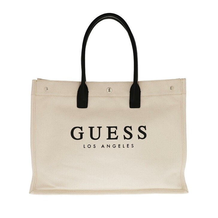 bags, Guess, Tani Canvas Tote Natural