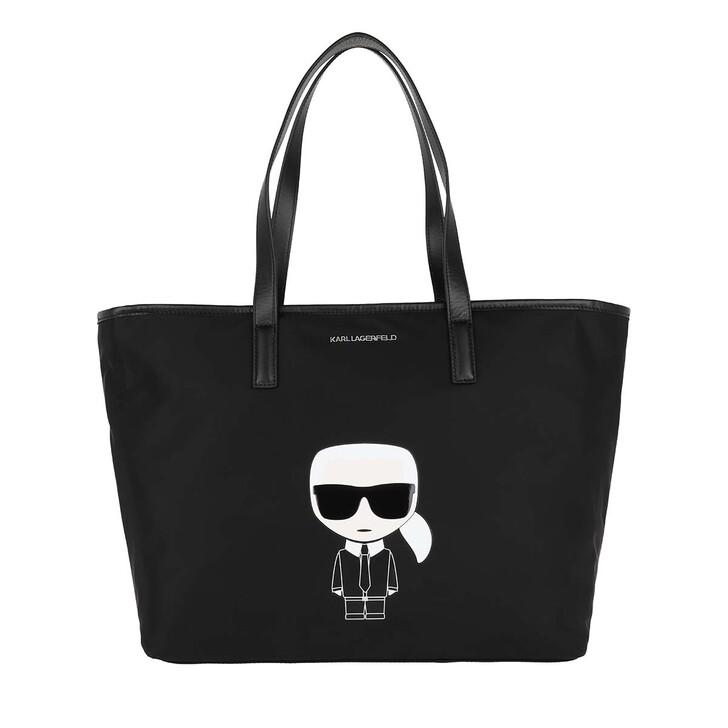 Handtasche, Karl Lagerfeld, K/Ikonik Nylon Tote Black