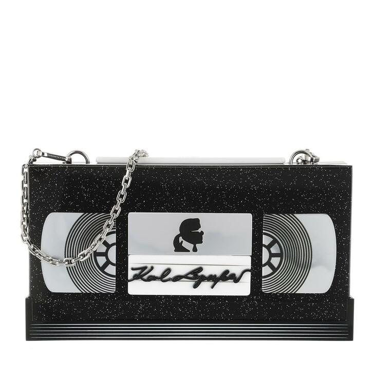 bags, Karl Lagerfeld, Video Tape Minaudiere Black