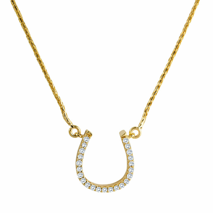 necklaces, diamondline, Necklace 375 23 Diamonds total approx. 0,08 ct. H- Yellow Gold