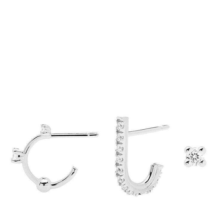 earrings, PDPAOLA, Earring Bundle L'OISEAU Silver