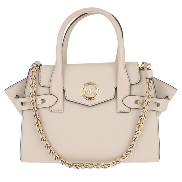 Handtasche, MICHAEL Michael Kors, Carmen SM Flap Satchel Bag Light Sand