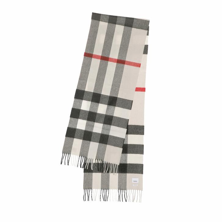 scarves, Burberry, Half Mega Check Scarf Cashmere Stone