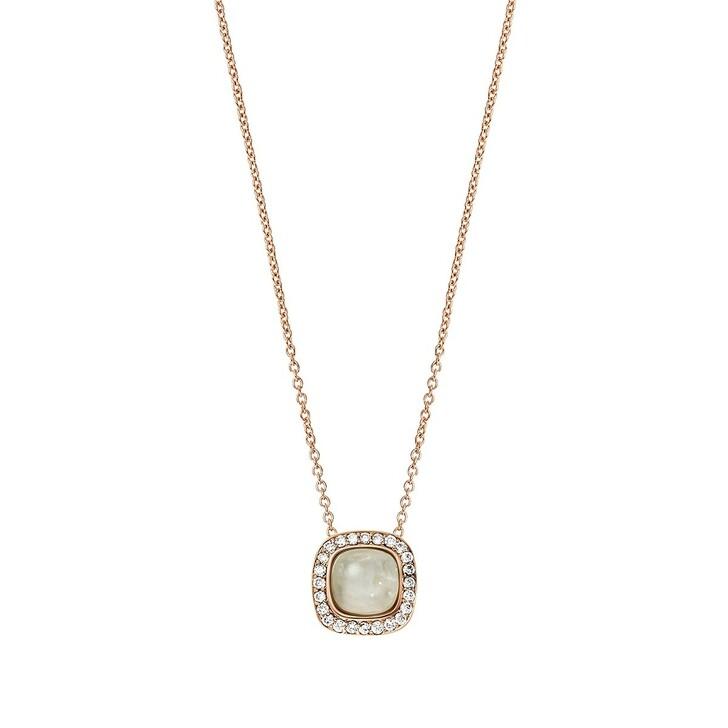 Kette, BELORO, Necklace Diamond Moonstone Grey 14k  Rose Gold