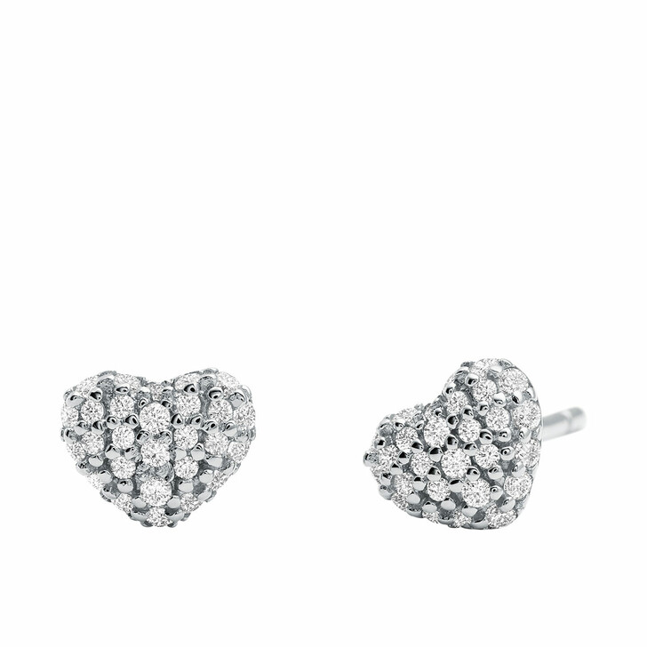 Ohrring, Michael Kors, MKC1119AN040 Pave Heart Stud Silver