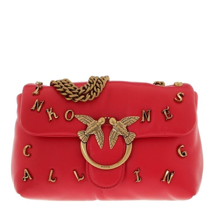 Handtasche, Pinko, Love Mini Puff Pinkoness Calli Crossbody Pure Red