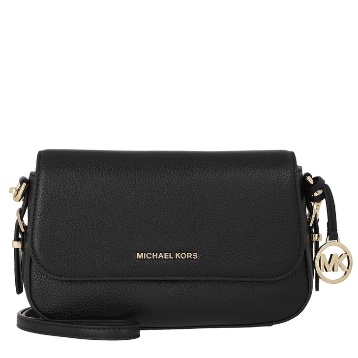Handtasche, MICHAEL Michael Kors, Large Flap Xbody Handbag  Leather Black