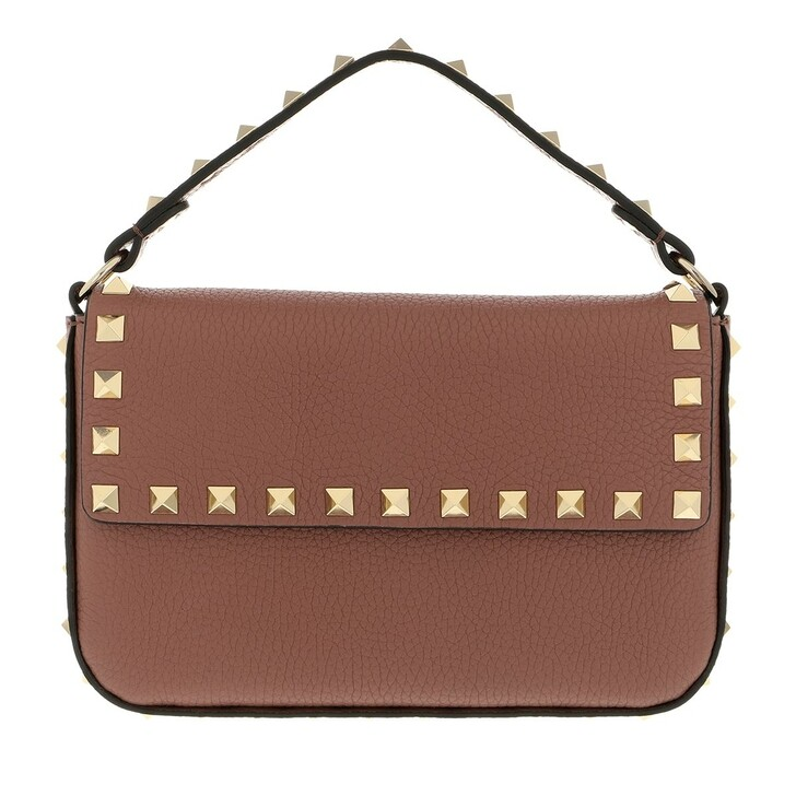 bags, Valentino Garavani, Mini Rockstud Crossbody Bag Dark Nude