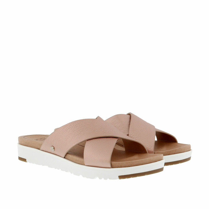 Schuh, UGG, Kari Metallic Sandal Rose Gold