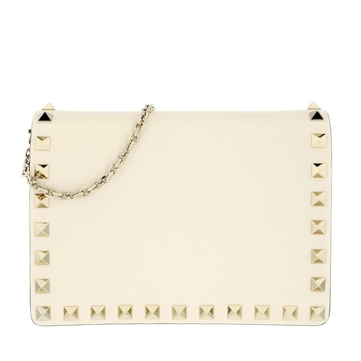 Handtasche, Valentino Garavani, Rockstud Portatutto Pouch  Light Ivory