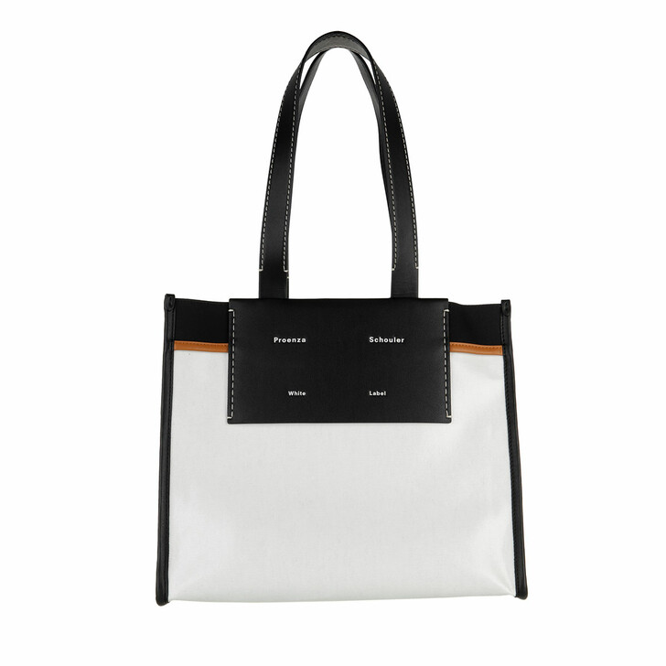 bags, Proenza Schouler, Morris Coated Canvas Tote Off White