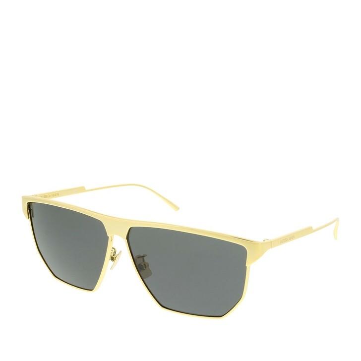Sonnenbrille, Bottega Veneta, BV1069S-001 62 Sunglass UNISEX METAL Gold