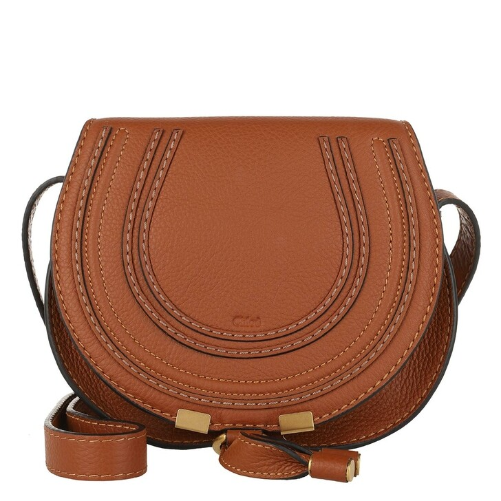Handtasche, Chloé, Marcie Crossbody Bag Small Tan