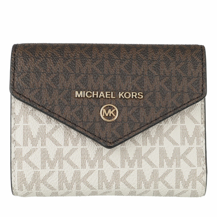 Geldbörse, MICHAEL Michael Kors, Medium Env Trifold Brown Multi