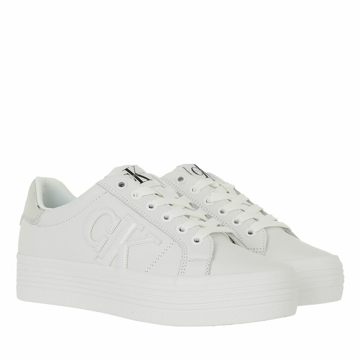 shoes, Calvin Klein, Vulcanized Flatform Sneaker M Bright White