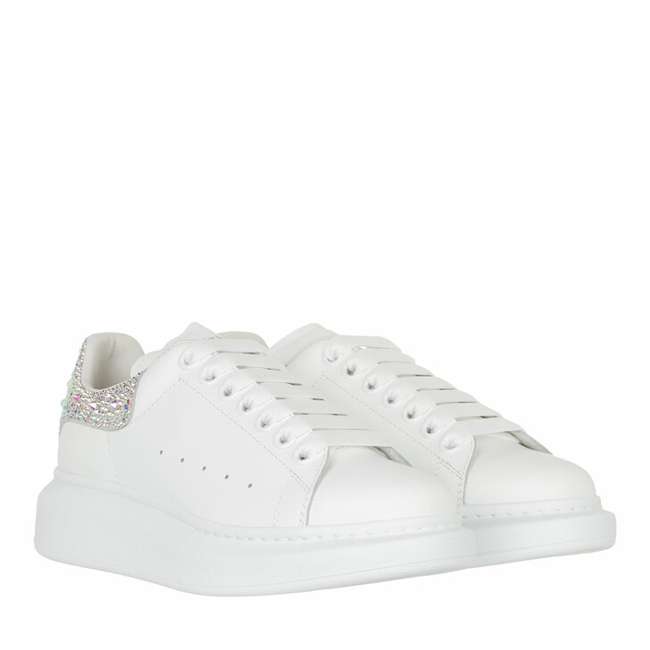 shoes, Alexander McQueen, Detailed Oversized Sneakers Leather White/White