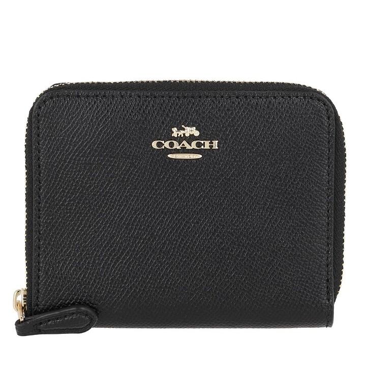Geldbörse, Coach, Small Zip Around Wallet Black