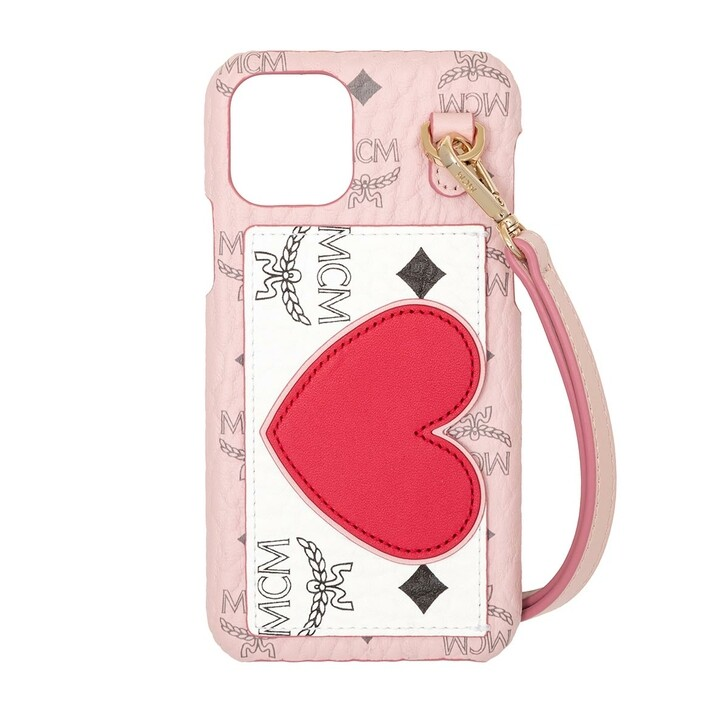 Smartphone/Tablet case (Case), MCM, Visetos Leather Mix Iphone Case 11 Pro Powder Pink