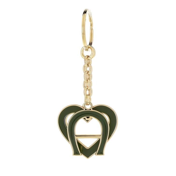 keyrings, AIGNER, Fashion Keychain Heart Dusty Green