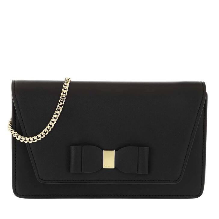 Handtasche, Ted Baker, Keeiira-Leather Bow Evening Bag Black