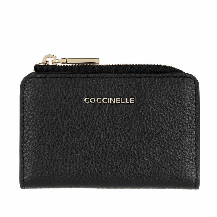 Geldbörse, Coccinelle, Credit Card Hold.Grainy Leather Noir