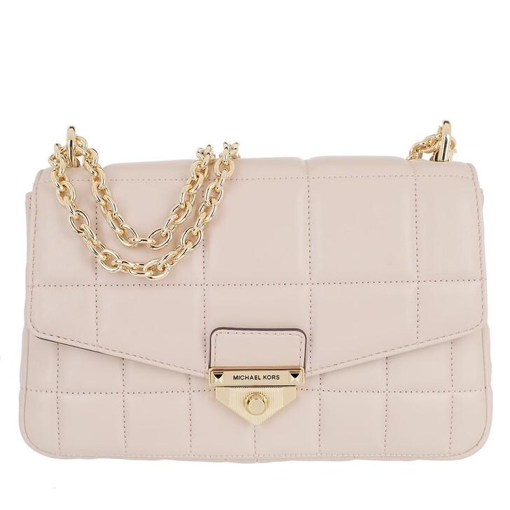 bags, MICHAEL Michael Kors, Soho Large Shoulder Bag Leather Soft Pink