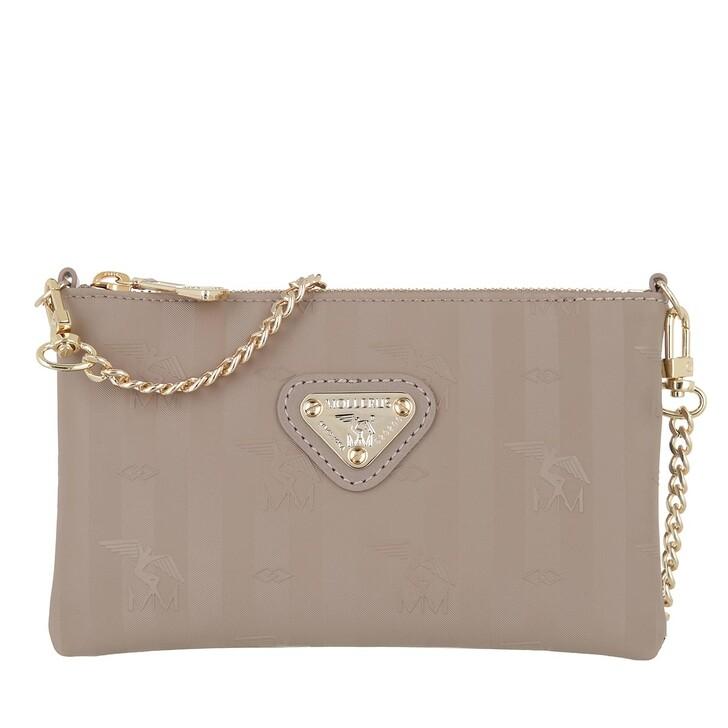 bags, Maison Mollerus, Chain Bag Taupe Gold