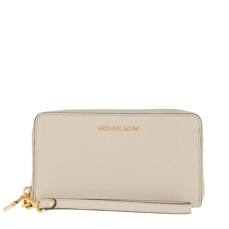 Handtasche, MICHAEL Michael Kors, Jet Set Wristlet Flat Phone Case Light Sand