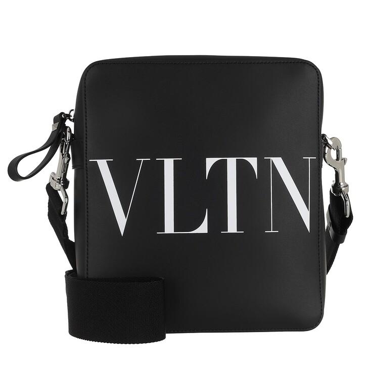Handtasche, Valentino Garavani, Small Logo Crossbody Bag Black/White