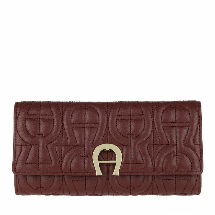 wallets, AIGNER, Genoveva Wallet Burgundy