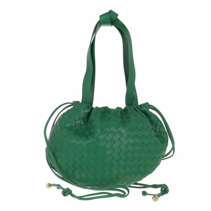 bags, Bottega Veneta, The Small Bulb Shoulder Bag Leather Racing Green